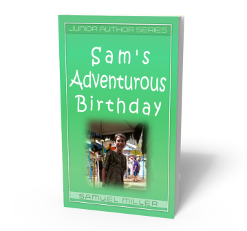 Sam's Birthday Adventure 3D Book Cover Narrow B 800 x700